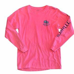 Ron Jon Surf Shop Long Sleeve Pink Top - Sz S